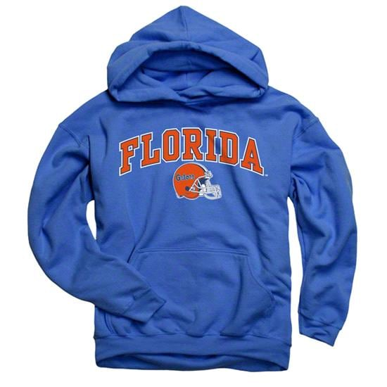 Florida Gators Royal Football Helmet Hooded Sweatshirt