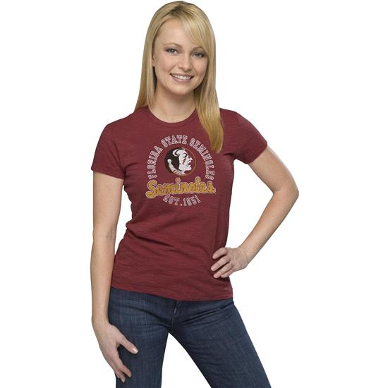 Florida State Seminoles '47 Brand Women's Vintage Scoreboard Scrum Tee