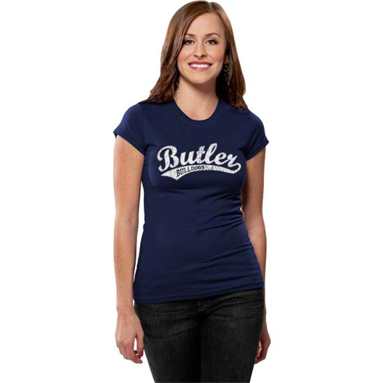 Butler Bulldogs Women's Distressed Tail Sweep Short Sleeve Tee