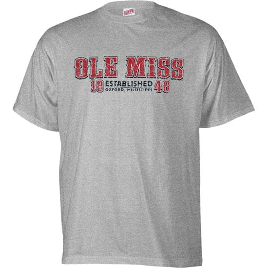 Mississippi State Bulldogs Grey Established Date Cube T-Shirt