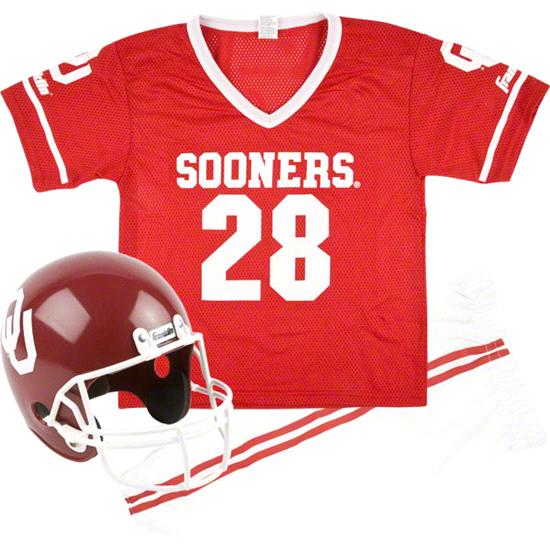 Oklahoma Sooners Kids/Youth Football Helmet and Uniform Set