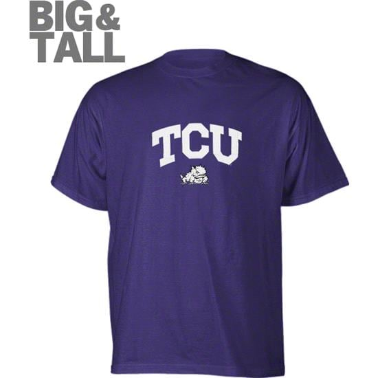 TCU Horned Frogs Purple Fan Arch Big & Tall T-Shirt