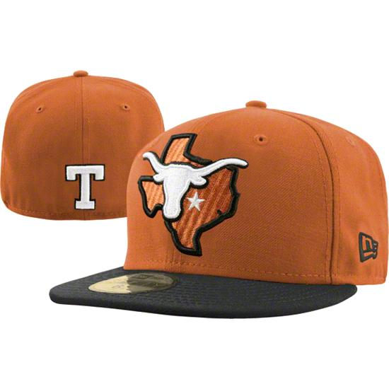 Texas Longhorns Dark Orange New Era 59FIFTY Bevo State Fitted Hat