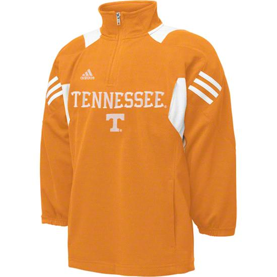 Tennessee Volunteers Youth adidas Orange Scorch 1/2 Zip Pullover Jacket
