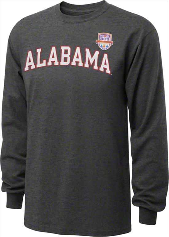 Alabama Crimson Tide 2013 BCS National Championship Game Tide Arch Long Sleeve T-Shirt - Charcoal