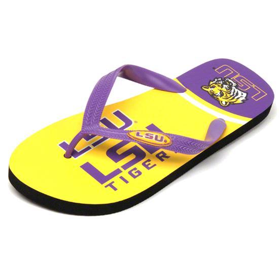 LSU Tigers Zori Flip Flops