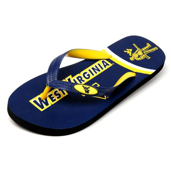 West Virginia Mountaineers Zori Flip Flops