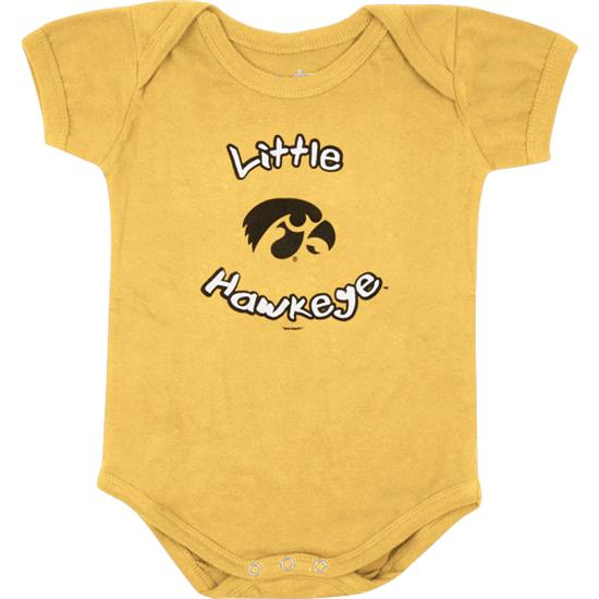 Iowa Hawkeyes Newborn / Infant Gold Lil' Pup Creeper