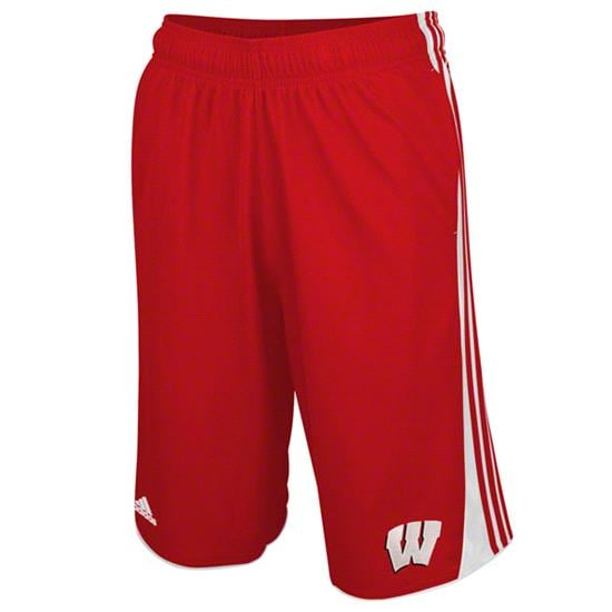 Wisconsin Badgers Red adidas Hoops Shorts