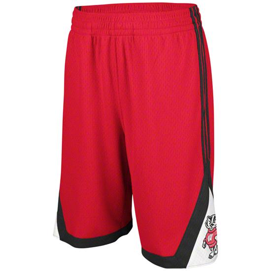Wisconsin Badgers Red adidas Originals BTC Shorts