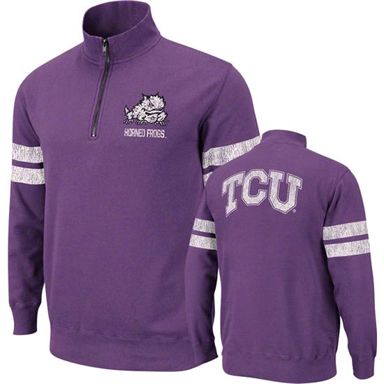 TCU Horned Frogs Purple Flex 1/4 Zip Fleece Sweatshirt