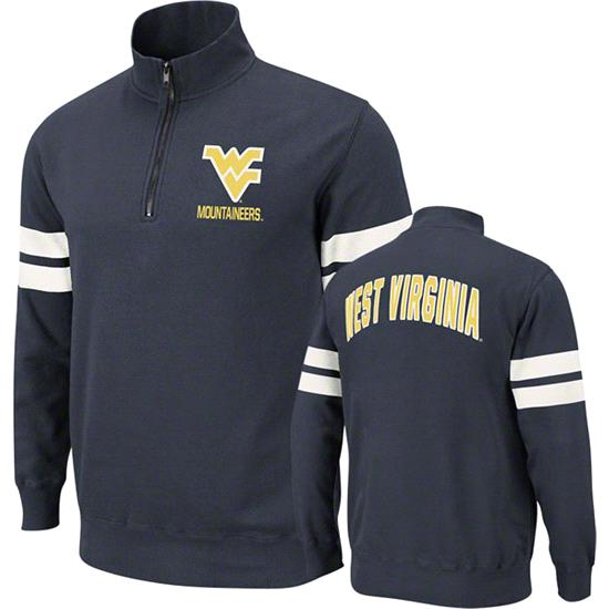 West Virginia Mountaineers Navy Flex 1/4 Zip Fleece Sweatshirt