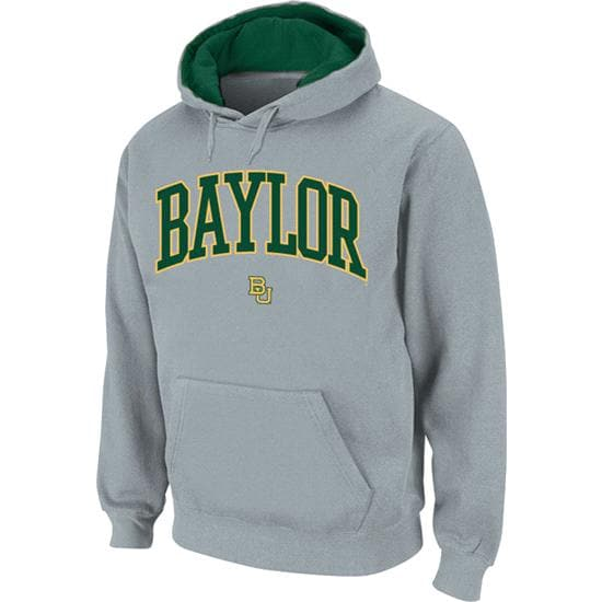 Baylor Bears Grey Twill Arch Hooded Sweatshirt