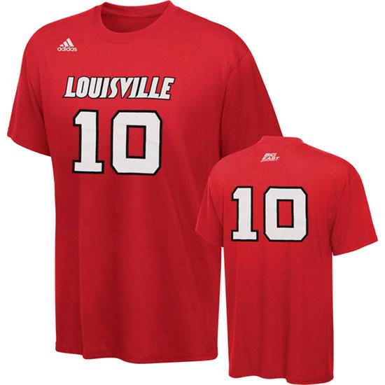 Louisville Cardinals adidas 2011-2012 Red #10 Basketball Player T-Shirt