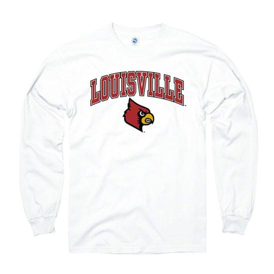 Louisville Cardinals White Perennial II Long Sleeve T-Shirt