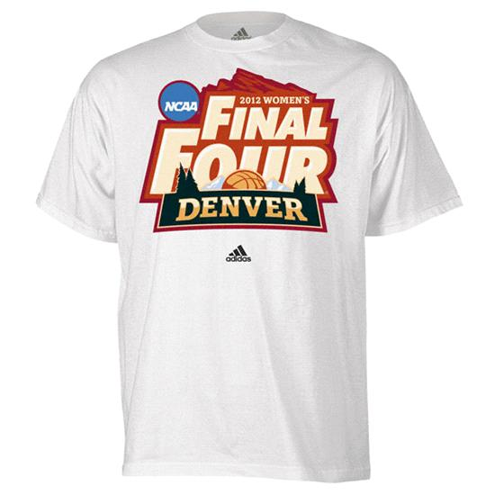 College Women's Basketball adidas 2012 NCAA Final Four Tournament Logo T-Shirt
