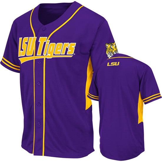 LSU Tigers Purple Bullpen Baseball Jersey