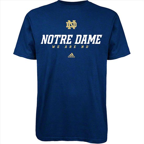 Notre Dame Fighting Irish Youth Navy adidas Sideline T-Shirt