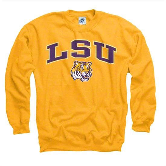 LSU Tigers Youth Gold Perennial II Crewneck Sweatshirt