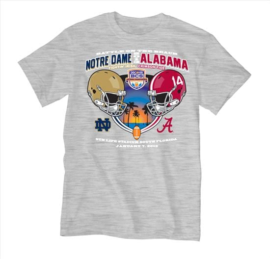 Notre Dame Fighting Irish vs. Alabama Crimson Tide Youth 2013 BCS National Championship Game Battle At The Beach Dueling T-Shirt