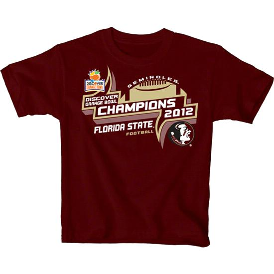 Florida State Seminoles Youth Garnet 2013 Orange Bowl Champions T-Shirt