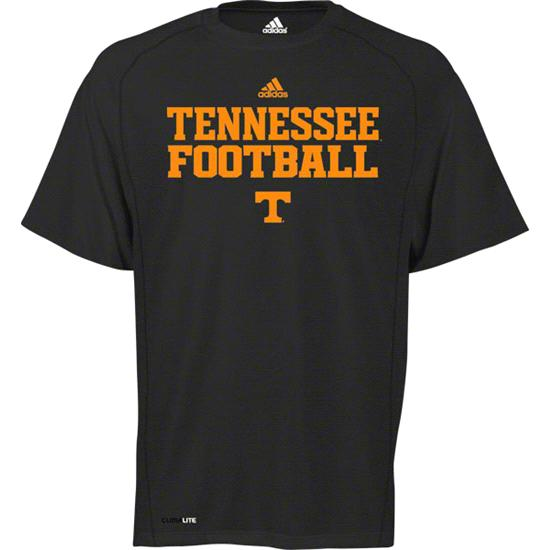 Tennessee Volunteers adidas Heathered Black 2011 Football Practice Climalite T-Shirt