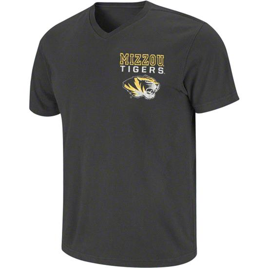 Missouri Tigers Black Ridgeback V-Neck T-Shirt