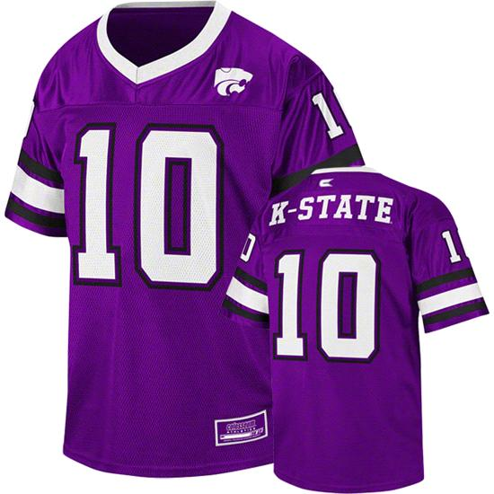 Kansas State Wildcats Youth Purple Stadium Football Jersey