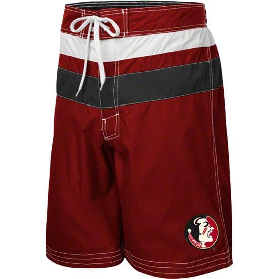 Florida State Seminoles Garnet Striped Swim Trunks