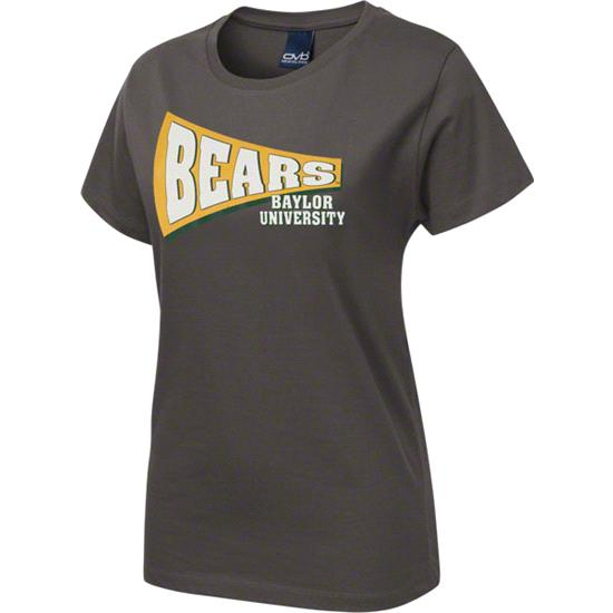 Baylor Bears Women's Charcoal Slant Rays T-Shirt