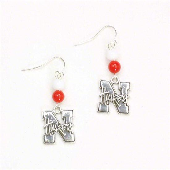 Nebraska Cornhuskers Beaded Earrings