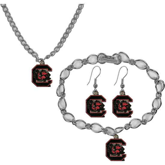 South Carolina Gamecocks Jewelry Gift Set
