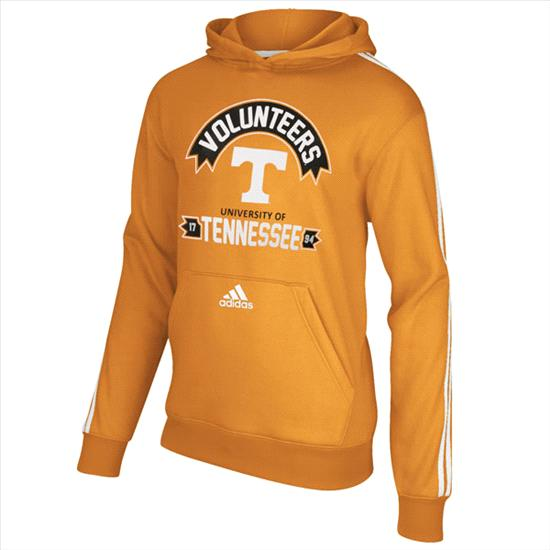 Tennessee Volunteers adidas Tenn Orange Youth 3 Stripe Hooded Sweatshirt