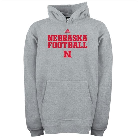 Nebraska Cornhuskers adidas 2012 Grey Youth Practice Hooded Sweatshirt