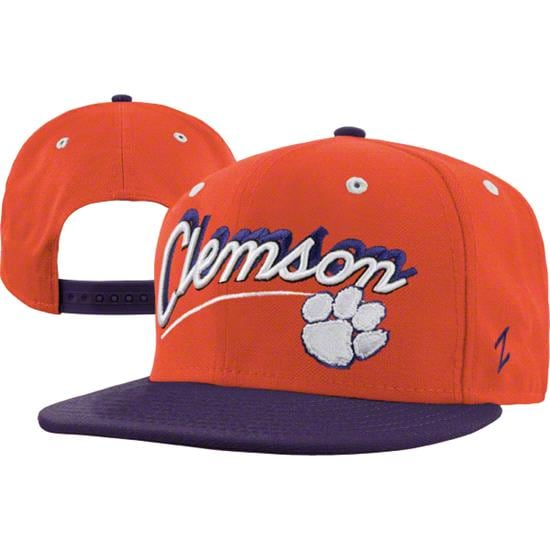 Clemson Tigers Orange/Dark Purple Shadow Script Snapback Adjustable Hat