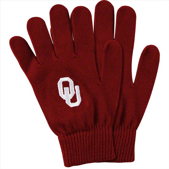 Oklahoma Sooners Cardinal Team Logo Knit Gloves