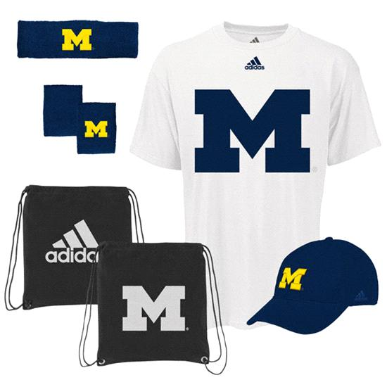 Michigan Wolverines adidas Pick-Up Game 5-PC Combo Pack