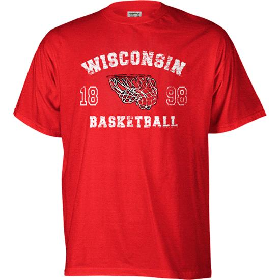 Wisconsin Badgers Legacy Basketball T-Shirt