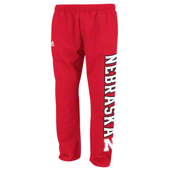 Nebraska Cornhuskers Red adidas Fleece Sweatpants