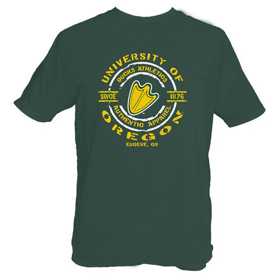 Oregon Ducks Forest Green Round About T-Shirt