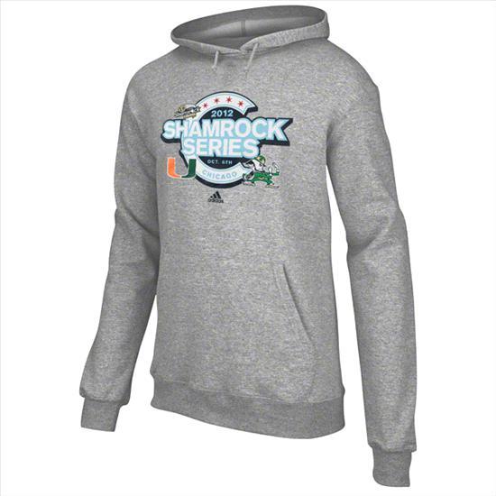 Notre Dame Fighting Irish vs. Miami Hurricanes Shamrock Series adidas Second City Shuffle Hooded Sweatshirt