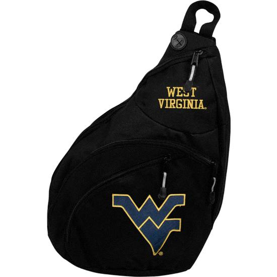 West Virginia Mountaineers Black Slingshot Backpack