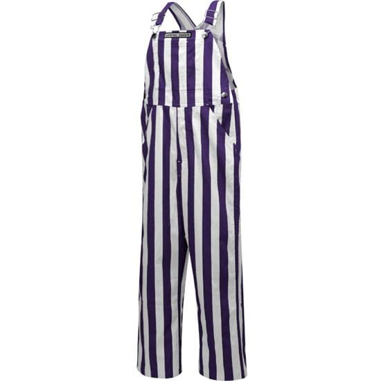 Youth Purple/White Game Bibs Overalls