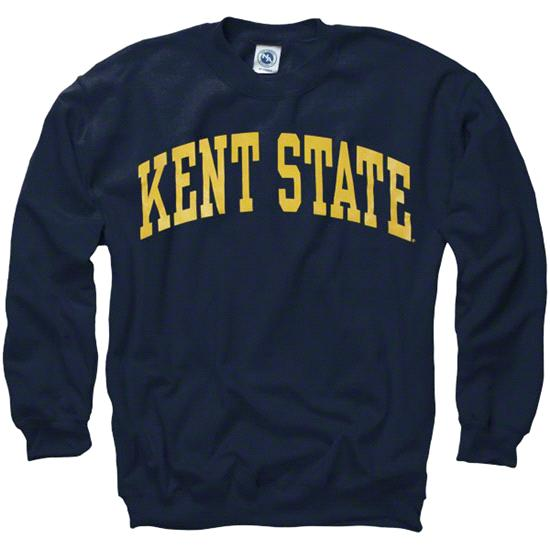 Kent State Golden Flashes Navy Arch Crewneck Sweatshirt