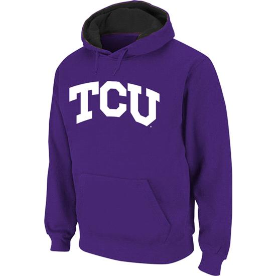 TCU Horned Frogs Purple Twill Script Hooded Sweatshirt