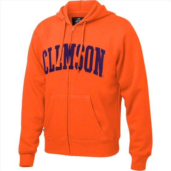 Clemson Tigers Orange Twill Arch Full-Zip Hooded Sweatshirt