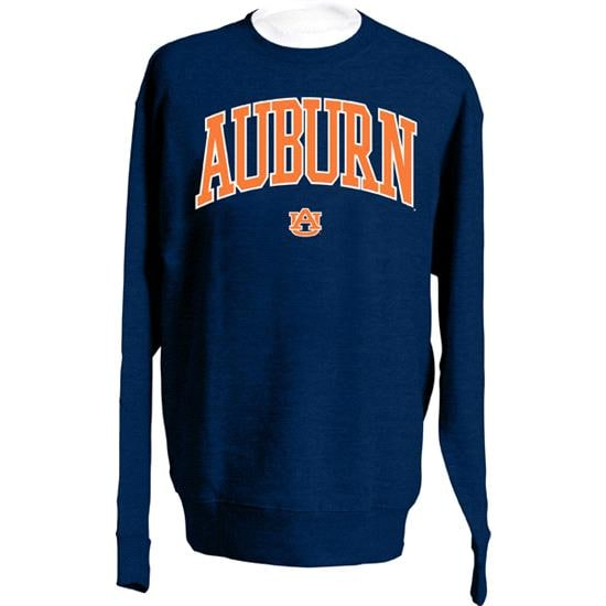 Auburn Tigers Navy Twill Arch Crewneck Sweatshirt