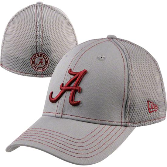 Alabama Crimson Tide New Era 39THIRTY Gray Neo Stretch Fit Hat