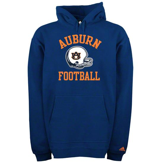 Auburn Tigers adidas Navy Football Helmet Patch Hooded Sweatshirt