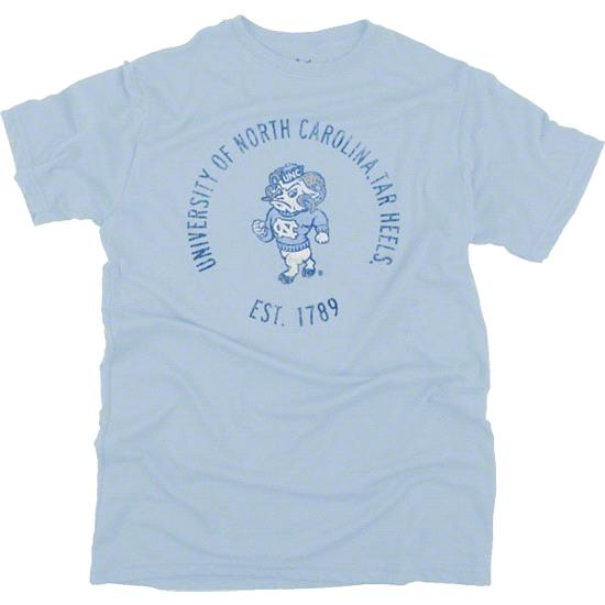 North Carolina Tar Heels Light Blue Retro Mascot Rampage T-Shirt